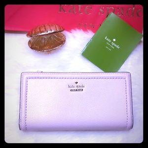 NEW Kate Spade Braylon Wallet Peonyblush Lilac NWT